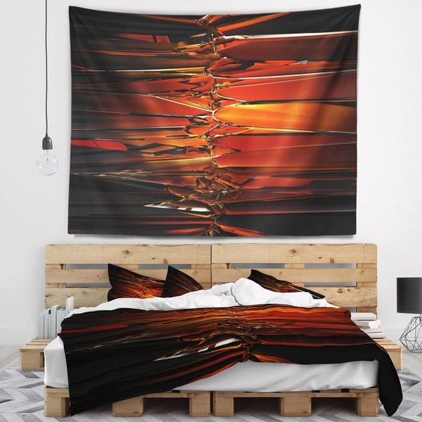 Designart 'Colorful Abstract Glass Design' Abstract Wall Tapestry