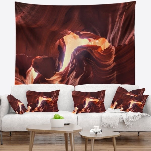 Designart 'Stone Structures In Lower Antelope Canyon' Photography Wall Tapestry