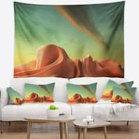 Designart '3D Alien World Surreal Fantasy' Contemporary Wall Tapestry