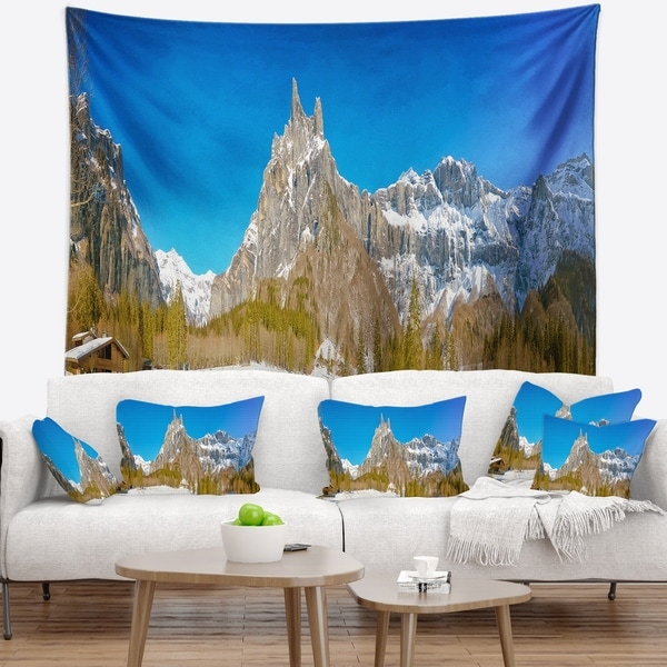 Designart 'Sixt Fer a Cheval Panoramic View' Landscape Wall Tapestry
