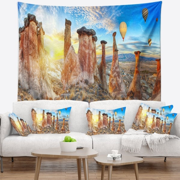Designart 'Mushrooms' Landscape Photography Wall Tapestry