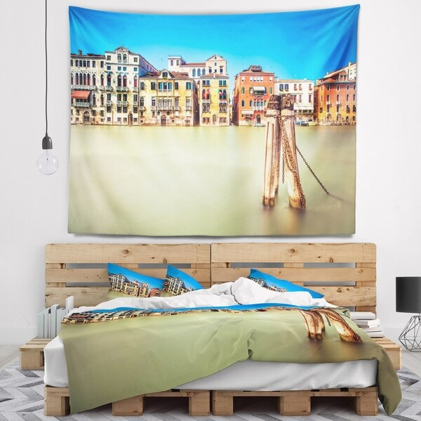 Designart 'Traditional Buildings of Venice' Landscape Wall Tapestry
