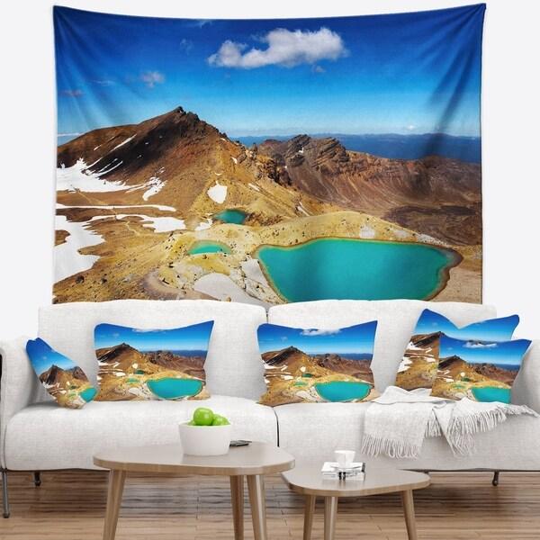 Designart 'New Zealand Emerald Lakes' Photography Wall Tapestry