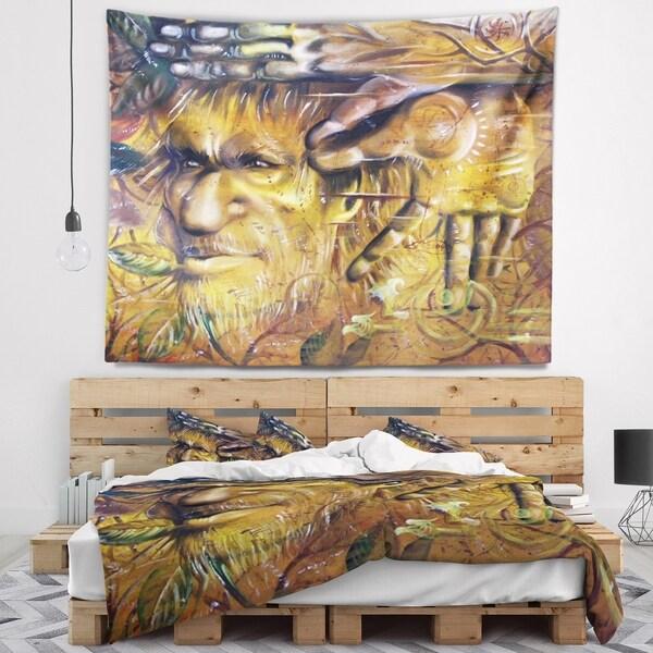 Designart 'Sylvan' Abstract Portrait Wall Tapestry