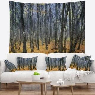 Designart 'Dark Woods in Autumn Forest' Modern Forest Wall Tapestry