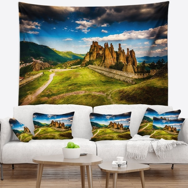 Designart 'Belogradchik Fortress and Cliffs' Landscape Wall Tapestry