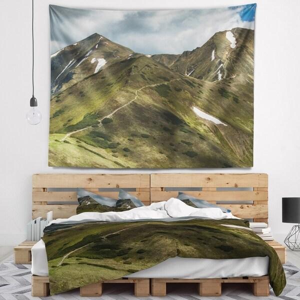 Designart 'Trekking Patch in Tatra Mountains' Landscape Wall Tapestry