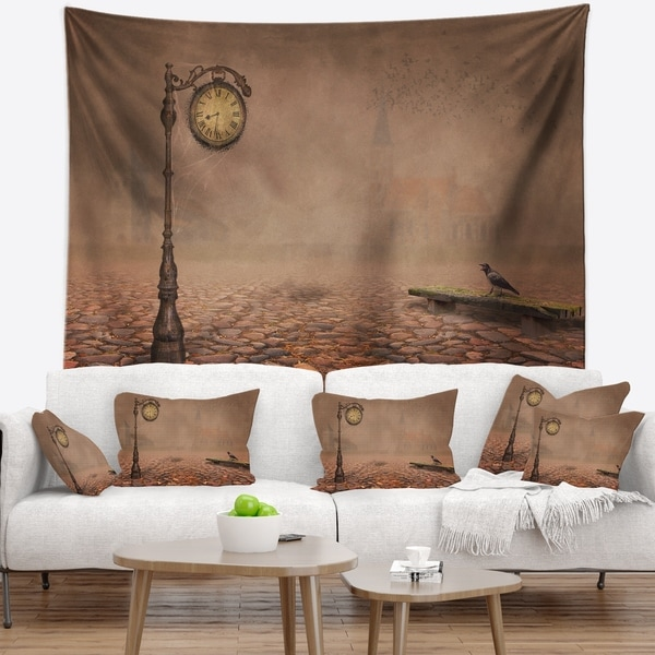 Designart 'Behind Old Time Landscape' Photography Wall Tapestry