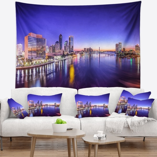 Designart 'Jacksonville Florida City Cityscape' Photography Wall Tapestry