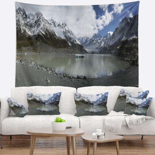 Designart 'New Zealand Mountains Panorama' Landscape Wall Tapestry