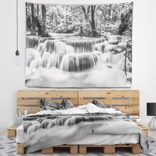 Designart 'White Erawan Waterfall' Landscape Photography Wall Tapestry