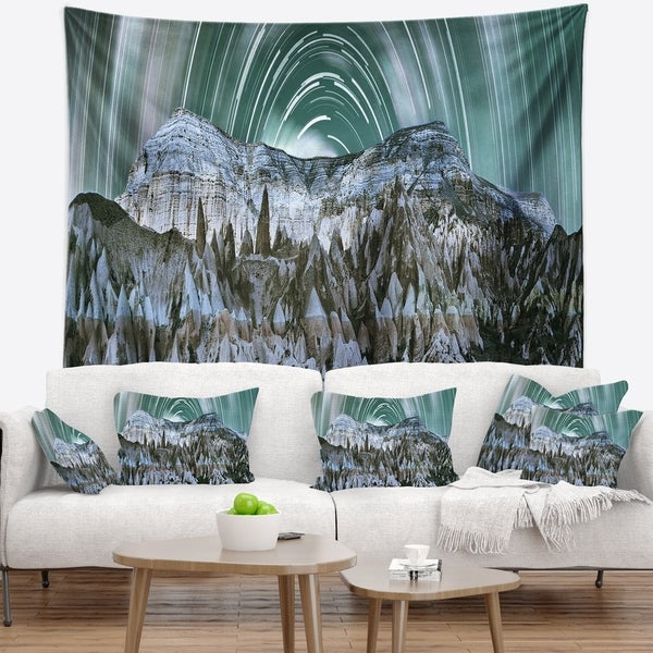 Designart 'Cappadocia Valley Panoramic View' Landscape Wall Tapestry