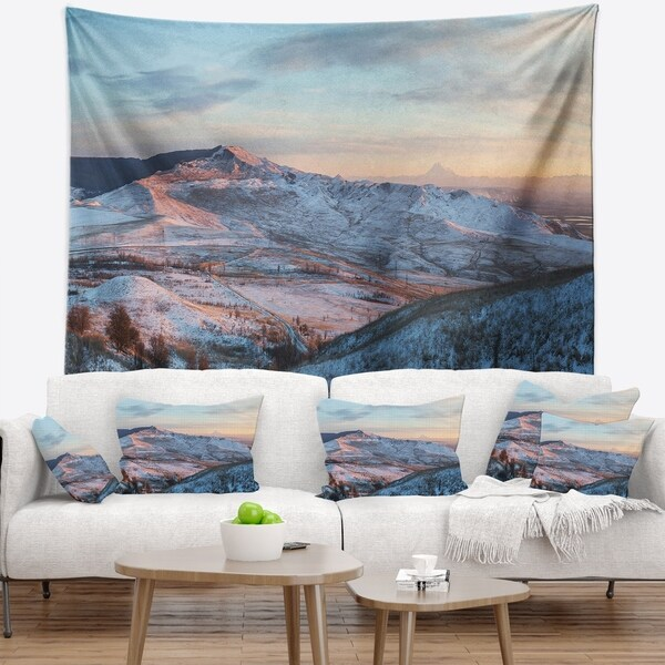 Designart 'View from Mount Strizhament' Landscape Wall Tapestry