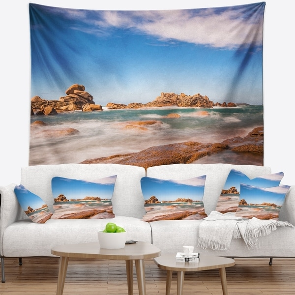 Designart 'Atlantic Ocean Cost in Brittany' Photography Wall Tapestry
