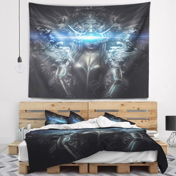 Designart 'Woman Suit with Relief' Abstract Wall Tapestry