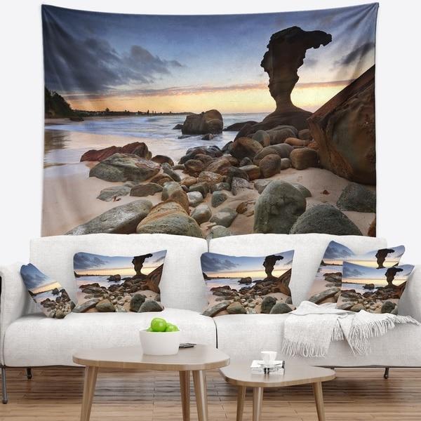 Designart 'Noraville Central Coast Australia' Modern Seashore Wall Tapestry