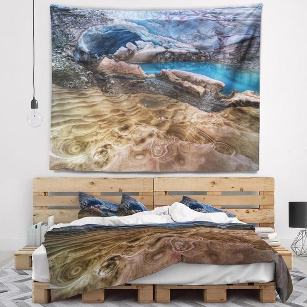 Designart 'Brilliant Turquoise Melt Pool' Landscape Wall Tapestry