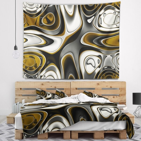 Designart 'Fantastic Fractal Abstract Pattern' Abstract Wall Tapestry