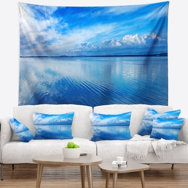 Designart 'Sunset Blue Panoramic Landscape' Landscape Wall Wall Tapestry