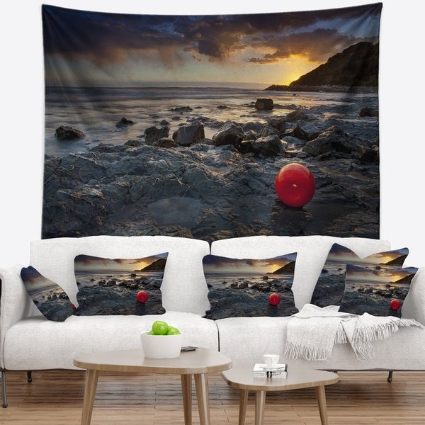 Designart 'Sunset at Livorno Italy' Landscape Photography Wall Tapestry