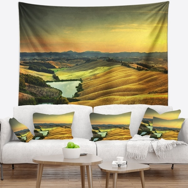 Designart 'Rural Landscape Italy Panorama' Landscape Wall Wall Tapestry