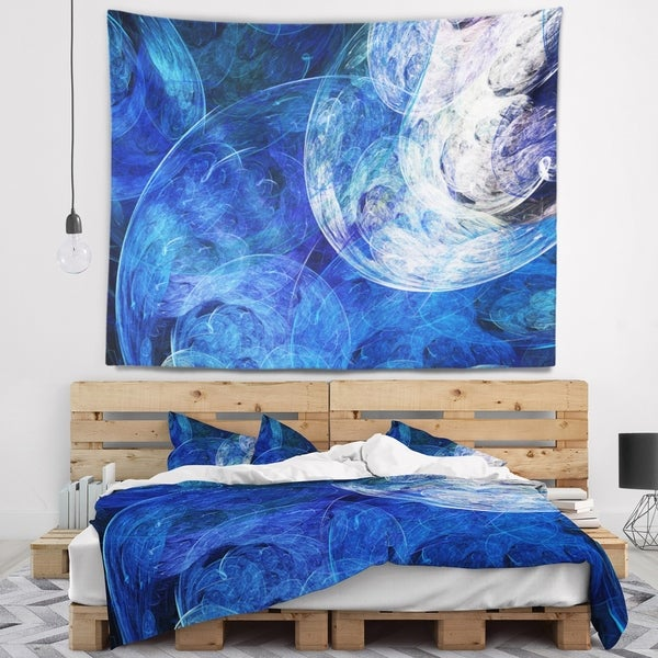 Designart 'Blue Swirling Clouds' Abstract Wall Tapestry