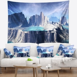Designart '3D Rendered Fantasy Alien Planet' Landscape Wall Tapestry