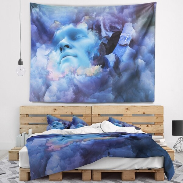Designart 'Game Of Dream Woman Sleeping' Abstract Wall Tapestry