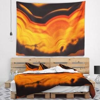 Designart 'Agate Macro Orange' Abstract Wall Tapestry