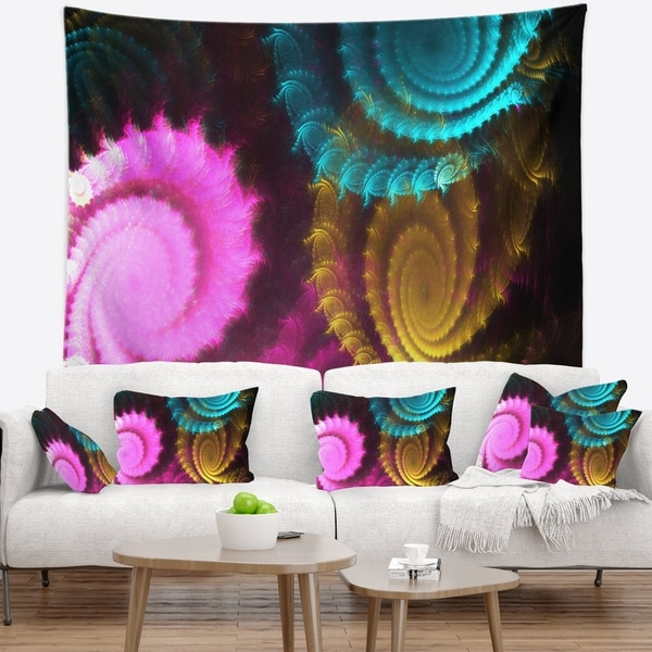 Designart 'Color Swirl Fractal Abstract Background' Abstract Wall Tapestry