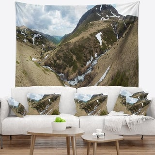 Designart 'Wild Sprint Mountain Panorama' Landscape Wall Tapestry