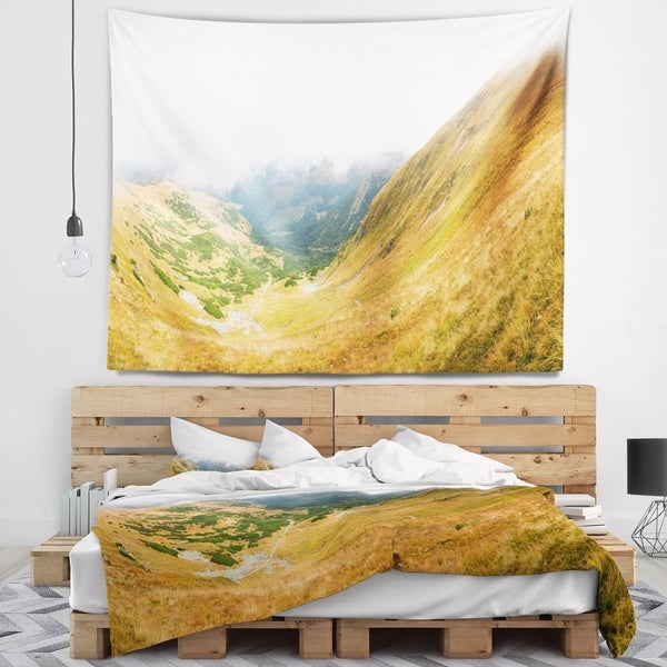Designart 'View from Volovec at Tatras' Landscape Wall Tapestry