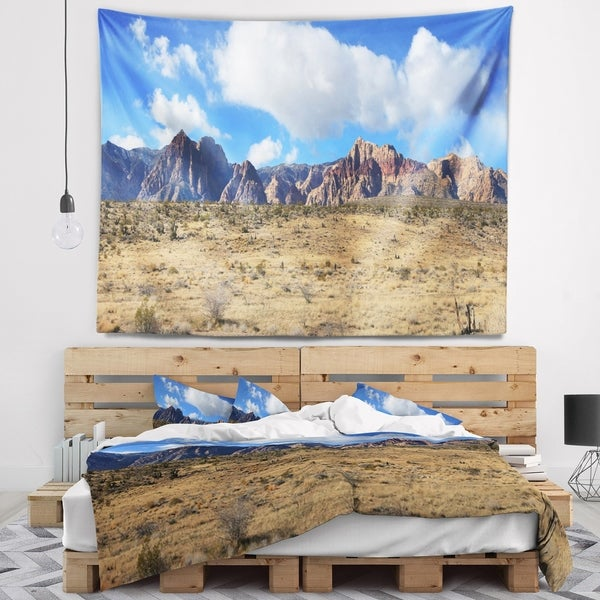 Designart 'Red Rock Canyon Landscape' Landscape Wall Tapestry