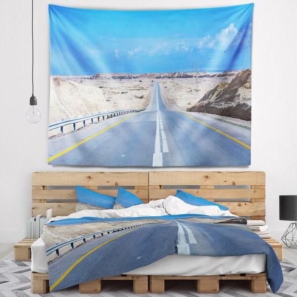 Designart 'Beautiful Desert Road Israel' Landscape Wall Tapestry