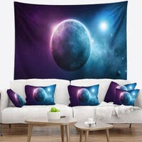 Designart 'Deep Space Planet' Space Wall Tapestry