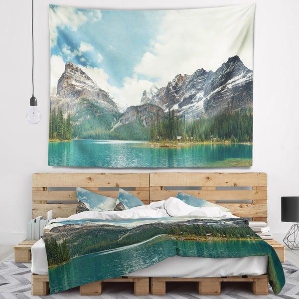 Designart 'Yoho National Park Panorama' Landscape Wall Tapestry