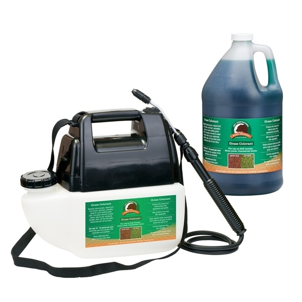 One Gallon Green Grass Colorant with Battery Sprayer