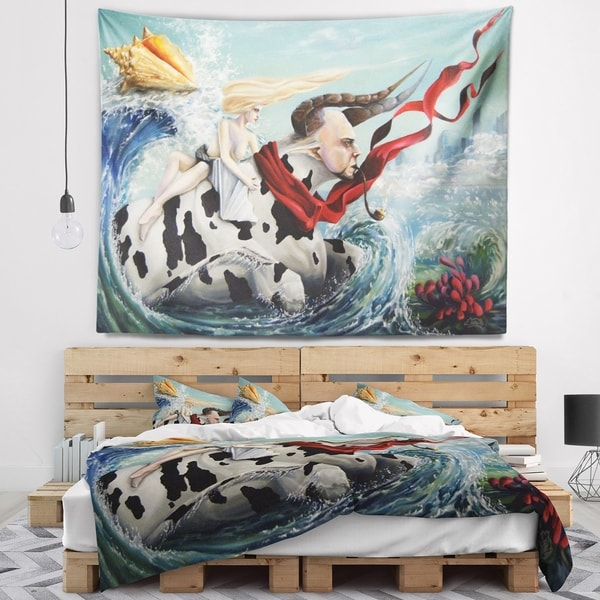Designart 'The Rape of Europe' Abstract Wall Tapestry