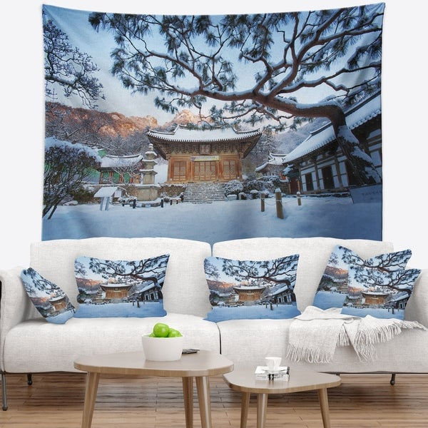 Designart 'Naesosa Temple in South Korea' Landscape Wall Tapestry