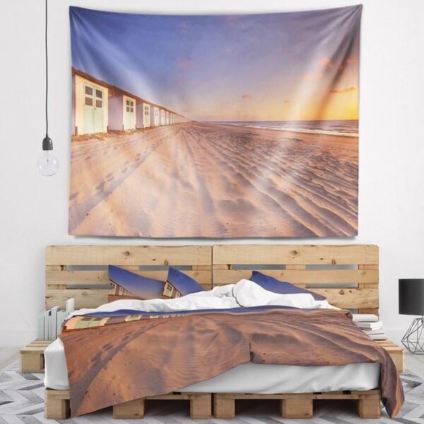 Designart 'Laguna Canapa Bolivia at Sunset' Modern Landscape Wall Tapestry