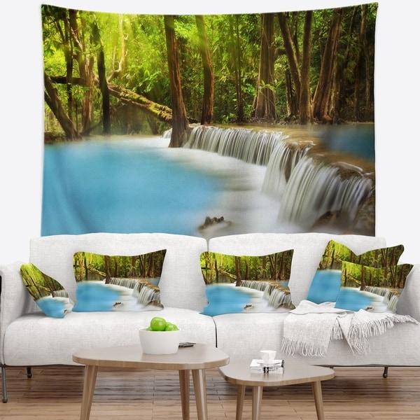 Designart 'View of Huai Mae Kamin Waterfall' Photography Wall Tapestry