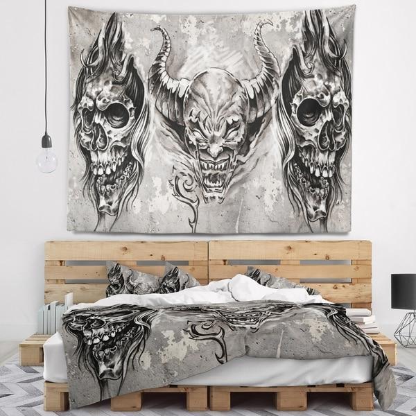 518102db7d Shop Designart '3 Demons Tattoo Sketch' Abstract Portrait Wall ...