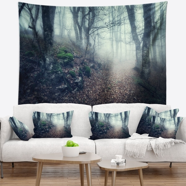 Designart 'Old Style Path in Forest' Landscape Photography Wall Tapestry
