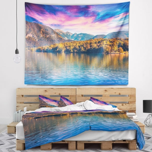 Designart 'Bohinj Lake in Triglav National Park' Landscape Wall Tapestry