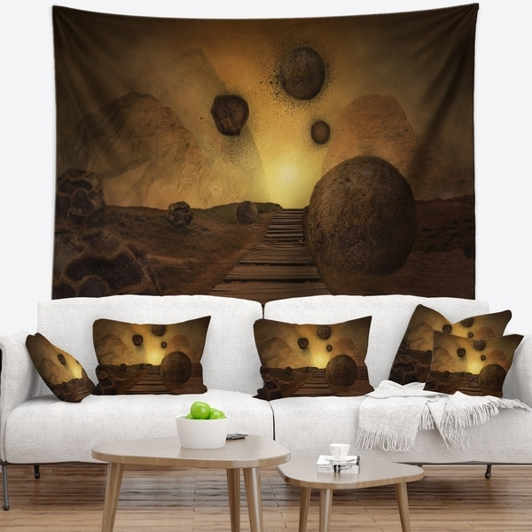 Designart 'Stones From Space' Abstract Wall Tapestry