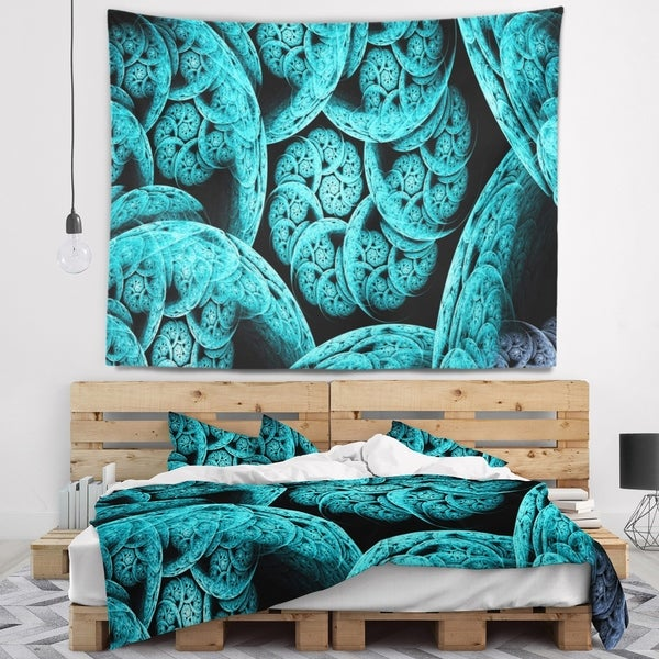 Designart 'Blue Dramatic Clouds' Abstract Wall Tapestry