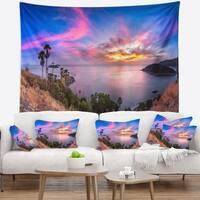 Designart 'Promthep Cape Best Phuket View Point' Seashore Wall Tapestry