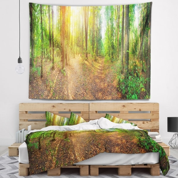 Designart 'Dense Forest Panorama' Landscape Wall Tapestry