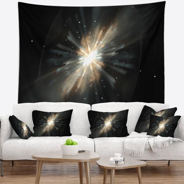 Designart 'Fractal Star Galaxy' Abstract Wall Tapestry