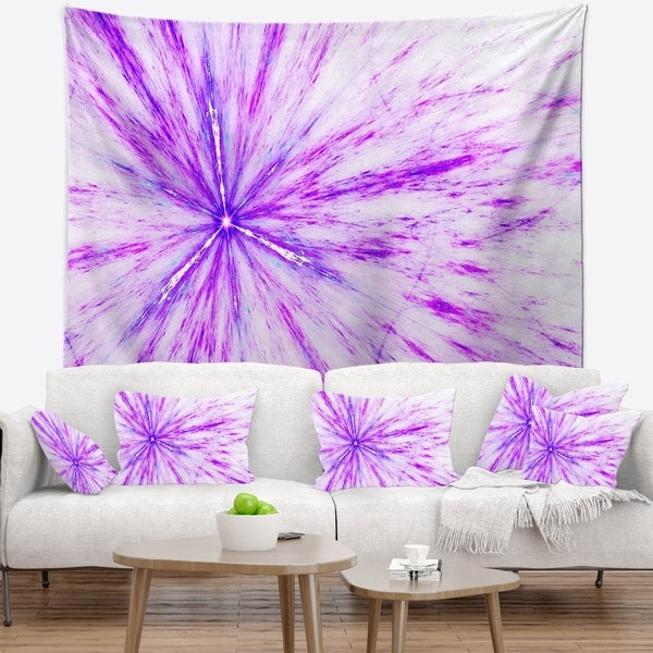 Designart 'Purple Flash of Supernova' Abstract Wall Tapestry